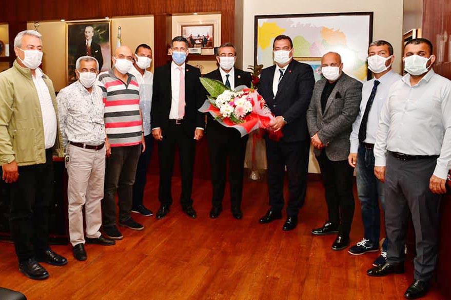 ASKF yeni yönetiminden Vali Elban'a ziyaret