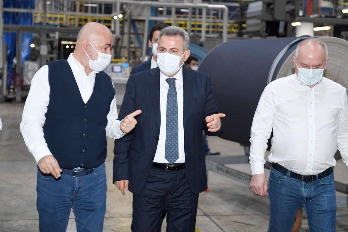 Vali Elban, Atlas Denim Tekstil'i ziyaret etti