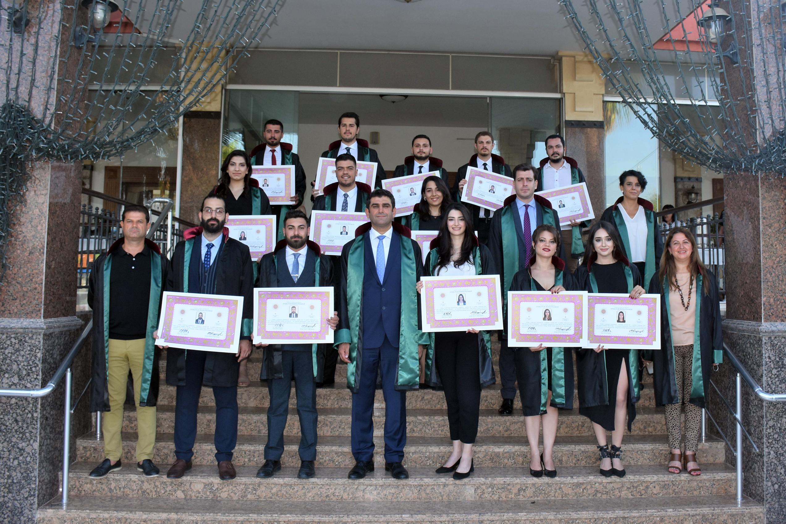 23 genç avukat mesleğe adım attı